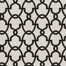 Black White Lattice Drapery and Upholstery Fabric by Fabricut
