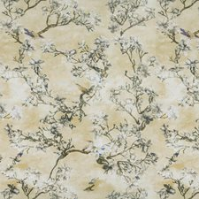 Meringue Floral Drapery and Upholstery Fabric by Vervain