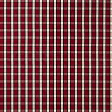 Ruby Ja Check Drapery and Upholstery Fabric by Fabricut