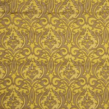 Modern Gold Damask Drapery and Upholstery Fabric by Fabricut