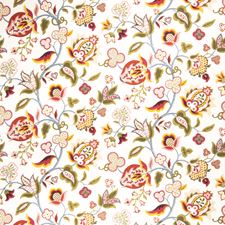 Jelly Bean Floral Drapery and Upholstery Fabric by Fabricut