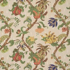 Eggshell Floral Drapery and Upholstery Fabric by Vervain