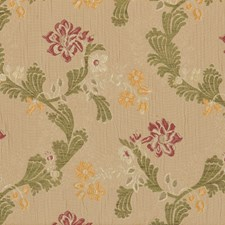 Toast Floral Drapery and Upholstery Fabric by Vervain