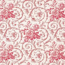 Rosette Floral Drapery and Upholstery Fabric by Vervain