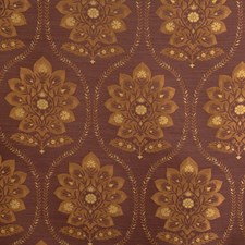 Violet Damask Drapery and Upholstery Fabric by Vervain