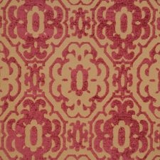 Fuchsia Geometric Drapery and Upholstery Fabric by Vervain