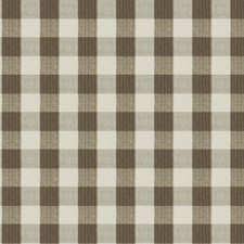 Truffle Check Drapery and Upholstery Fabric by Vervain