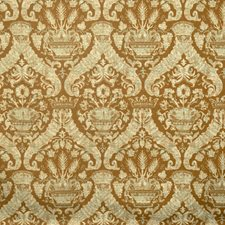 Molasses Damask Drapery and Upholstery Fabric by Vervain
