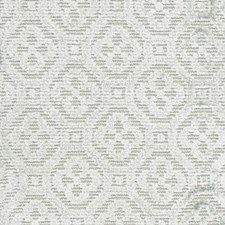 Aqua Geometric Drapery and Upholstery Fabric by Vervain