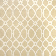 Beige Lattice Drapery and Upholstery Fabric by Stroheim