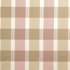 Cherry Blossom Check Drapery and Upholstery Fabric by Stroheim