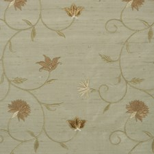 Seafoam Floral Drapery and Upholstery Fabric by Trend