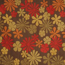 Spice Floral Drapery and Upholstery Fabric by Trend