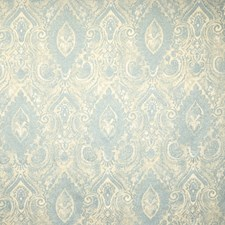 Aqua Mist Paisley Drapery and Upholstery Fabric by Trend