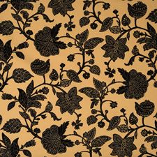 Jet Floral Drapery and Upholstery Fabric by Trend