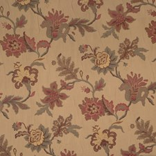 Sangria Embroidery Drapery and Upholstery Fabric by Trend