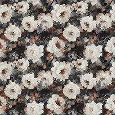 Haze Blue Floral Drapery and Upholstery Fabric by S. Harris