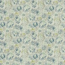 Grey Frost Floral Drapery and Upholstery Fabric by Trend