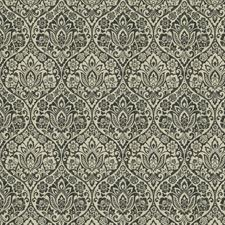 Pewter Damask Drapery and Upholstery Fabric by Trend