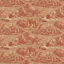 Document Red Drapery and Upholstery Fabric by Schumacher