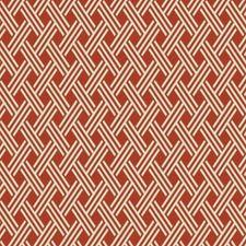 Rust Lattice Drapery and Upholstery Fabric by Fabricut