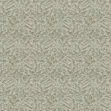 Grey Leaves Drapery and Upholstery Fabric by Trend