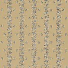 Bleu Floral Drapery and Upholstery Fabric by Fabricut