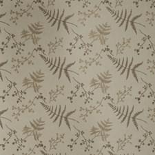 Khaki Embroidery Drapery and Upholstery Fabric by Fabricut