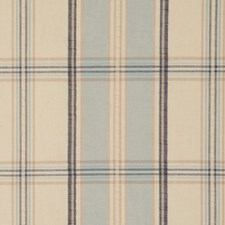 Ivory Blue Drapery and Upholstery Fabric by RM Coco
