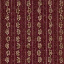 Burgundy/Red Stripes Drapery and Upholstery Fabric by Kravet