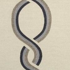 Indigo Geometric Drapery and Upholstery Fabric by Duralee