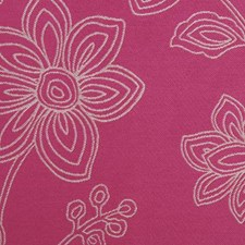 Fuchsia Floral Large Drapery and Upholstery Fabric by Duralee