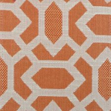 Tangerine Geometric Drapery and Upholstery Fabric by Duralee