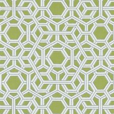 Spring Green Geometric Drapery and Upholstery Fabric by Duralee