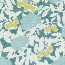 Aqua/Green Floral Large Drapery and Upholstery Fabric by Duralee