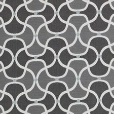 Charcoal Dots Drapery and Upholstery Fabric by Duralee