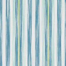 Aqua/Green Stripe Drapery and Upholstery Fabric by Duralee