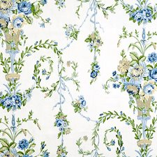 Blues/Golds/Greens Drapery and Upholstery Fabric by Scalamandre