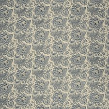 Indigo Jacobean Drapery and Upholstery Fabric by Fabricut