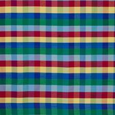 Stained Glass Plaid Drapery and Upholstery Fabric by Kravet