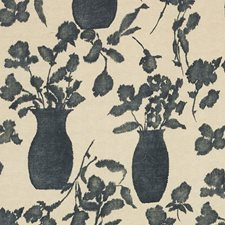 Faded Black Drapery and Upholstery Fabric by Schumacher