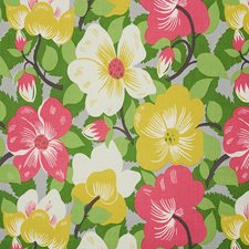 Poppy/amp/Yellow Drapery and Upholstery Fabric by Schumacher