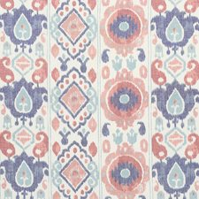 Rose/Indigo Drapery and Upholstery Fabric by Schumacher