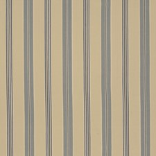 Bleu Stripes Drapery and Upholstery Fabric by Fabricut