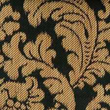 Gold/black Drapery and Upholstery Fabric by Highland Court