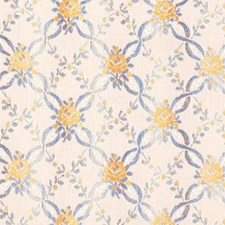 Blue/yellow Drapery and Upholstery Fabric by Highland Court