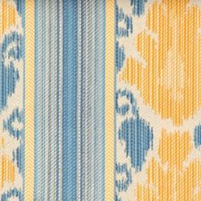 Blue/gold Drapery and Upholstery Fabric by Highland Court