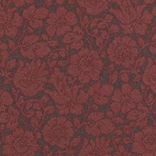 Plum/Red Floral Medium Drapery and Upholstery Fabric by Highland Court