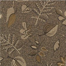 Brown/Yellow/Black Botanical Drapery and Upholstery Fabric by Kravet
