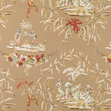 Natural/Red Birds Drapery and Upholstery Fabric by Duralee